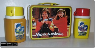 Mork & Mindy lunch box and thermos - Tavres.com/MovieTV