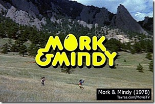 Mork & Mindy TV show title - Tavres.com/MovieTV