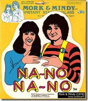 Mork & Mindy window sticker - Tavres.com/MovieTV