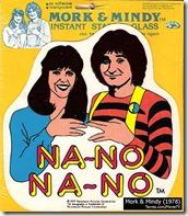 Mork & Mindy window sticker - Tavres.com/MovieTV