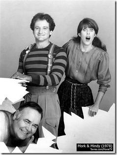 Mork & Mindy Robin Williams, Pam Dawber and Jonathan Winters - Tavres.com/MovieTV