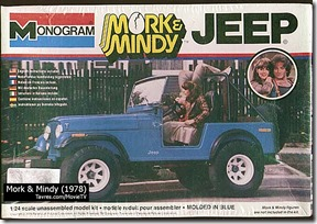 Mork & Mindy Jeep Model by Monogram - Tavres.com/MovieTV